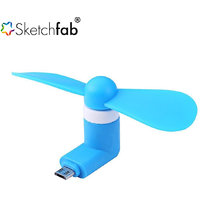 Sketchfab OTG Mini USB Cooling Portable Fan Mobile Cool