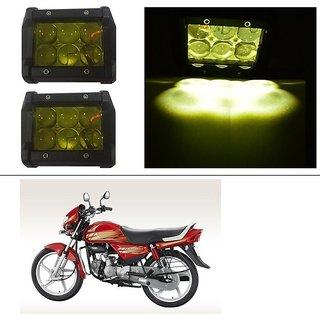 AutoStark 18W Car LED Work Light Bar 12V Spot Yellow 4D Lens DRL  Fog Light  For Hero CD deluxe