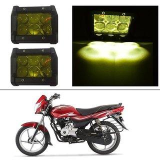 AutoStark 18W Car LED Work Light Bar 12V Spot Yellow 4D Lens DRL  Fog Light  For Bajaj Platina 100 DTS-i