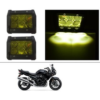 AutoStark 18W Car LED Work Light Bar 12V Spot Yellow 4D Lens DRL  Fog Light  For Suzuki Bandit