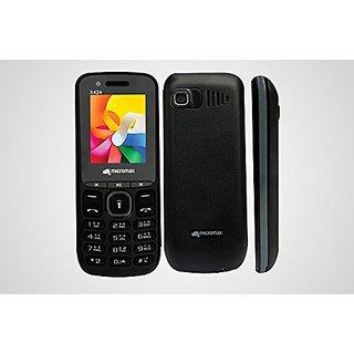 Micromax X424 Plus Dual SIM Basic Phone (Black)