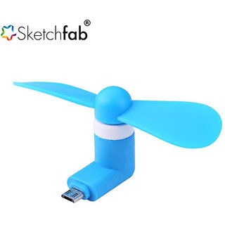 Sketchfab OTG Mini USB Cooling Portable Fan Mobile Cooler For V8 Android OTG Phone
