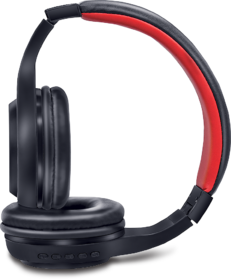iBall Musi Sway BT01 Bluetooth Headset with Built in Mic,Micro SD Slot,3.5 mm Jack,5 Button Control and 4 Stickers