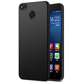 360 Degree Full Body Protection Front Back Case Cover (iPaky Style) with Tempered Glass for RedMi 4 - Black