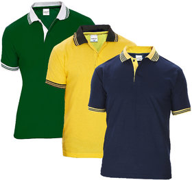Pack Of 3 Men Polo T-Shirt by Baremoda (Multicolor)