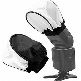 American sia LD1 Universal Studio Soft Box Flash Diffuser for Canon EOS Nikon Olympus Pentax Sony Sigma and Other External Flash Units (White)