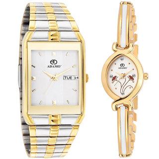 ADAMO Legacy Couples Wrist Watch 9151BM01-2251YM01