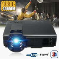 3D HD 3000 Lumen's Home Best Home Theater With USB/SD/A