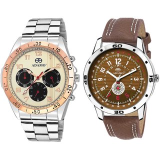 ADAMO Designer Men's Wrist Watch 314KM01-329BR04