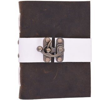 Handmade Leather With Lock Notebook