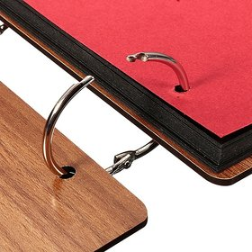 ZINCOO High Quality 100pcs Metal Loose Leaf Book Binder Hinged Rings Keychain Scrapbook Craft Photo Album Scrapbook RING