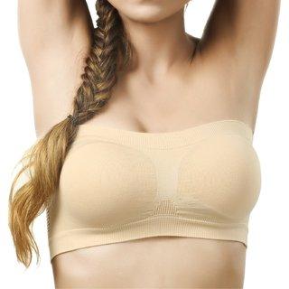 Vishwakarma Store non wired non padded women tube bra beige