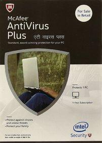 McAfee Anti-Virus Plus - 1 PC, 1 Year (CD), Latest Version