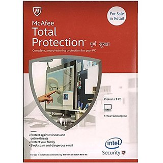 McAfee Total Protection- 1 User 1 Year CD/DVD  Latest Version