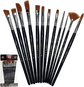 Aeoss Paint Brushes 12 Pieces Set Professional Paint Brush Round Pointed Tip Nylon artist acrylic brush for Acrylic