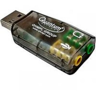 quantum QHM 623 USB Sound Card 3D Audio Virtual 5.1 Channel