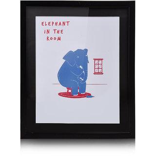 CollarFolk Printed Artworks Elephant In The Room - Pink Blue
