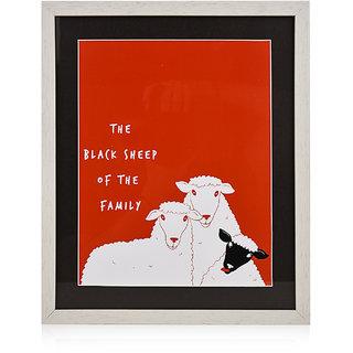 CollarFolk Printed Artworks Black Sheep Of The Family - Pink Black
