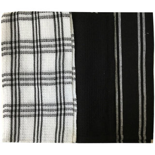Lushomes Super Absorbent and Soft Black Kitchen Towels (13 x 22 Pack of 3)