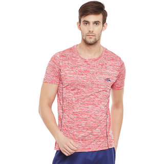 PERF Red Cationic Regular Fit Tshirt for Men