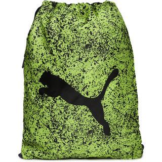 Puma Unisex Green Black Alpha Printed Gym Bag