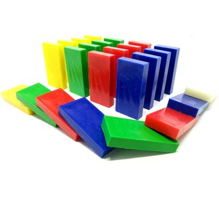 Toppling Dominoes  Four Colors  High Quality Plastic  100 pieces