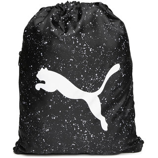Puma Unisex Black Alpha Printed Gym Sack