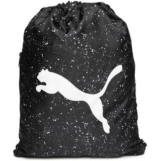 Puma Unisex Black Alpha Printed Gym Sack