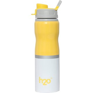 H2O SB-142 Stainless Steel Water Bottle 750ml Yellow