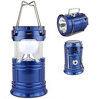 Best Quality 6 + 1 LED Solar Rechargeable Camping Lantern ( Assorted Colors )