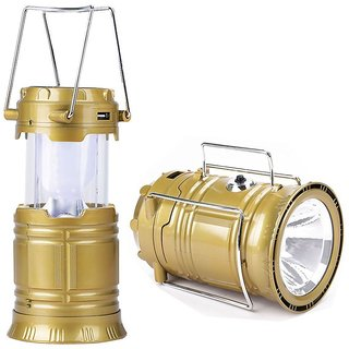 6+1 Led Solar Emergency Light Lantern + USB Mobile Charging + Torch point Lithium Battery( Multicolor )