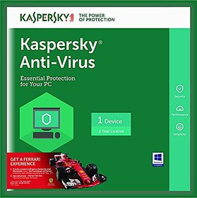 Kaspersky Anti-Virus Latest Version - 1 PC, 1 Year (CD) 2017 Latest Version (Email Delivery in 2 hours- No CD)