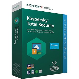 Kaspersky Total Security - 1 User  1 Year (CD)