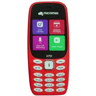 Micromax X751 Dual SIM Basic Phone (Red)