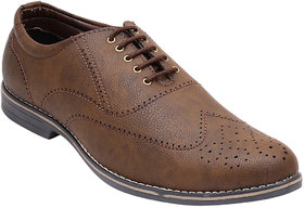 CALASO Brown Formal Shoes For Men (FR-3103-Brwn)