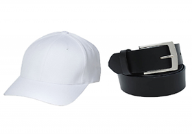 Combo of White Cap and Black Belt(Pack of 2)(WCAPBB)