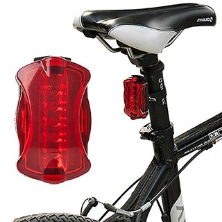 Bicycle Rear Lamp Cycling Safety Tail Light Warning Lamp Mode Flashlight ( Assorted Colors )