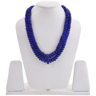 Tistabene Retails Big Blue Stones Beaded Modern Designer Stylish Fancy Party Wear Necklace For Women And Girls (NE-0101)