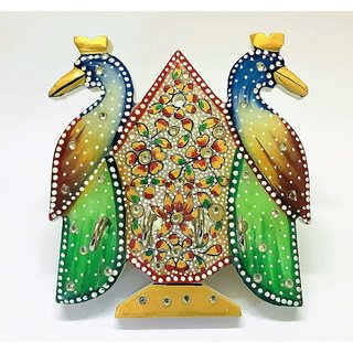Marble Pooja Puja Peacock shaped Key Holder / Hanger