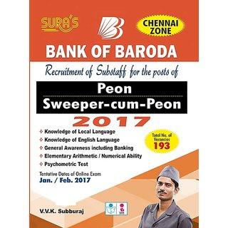 Bank of Baroda Sweeper Cum Peon Exam Books (Chennai zone English Medium)