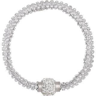 Bandish American Diamond studded Silver Bracelet