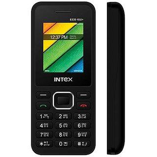 Intex ECO 102+Dual Siam Mobile Phone ( Black Color )