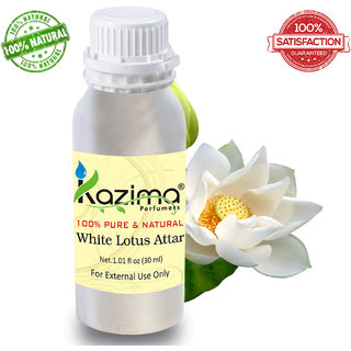 White Lotus Attar Perfume For Unisex (30 ML) - Pure Natural Undiluted
