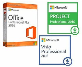 Office 2016 Pro + Visio 2016 Pro + Project 2016 Pro Digital Delivery by mail