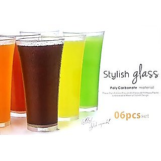 jony juicy stylish glass 6Pcs Set unbreakable glass Plastic glass