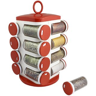 Multipurpose Revolving Spice Rack  Rotating Masala Rack Condiment Set  16 Pieces