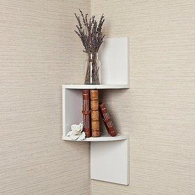 sunshine 2d wall shelf zig zig wall coner white no. of shelves 2