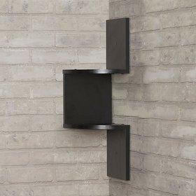 sunshinewood black wall zig zig shelf coner black no. of shelves 2