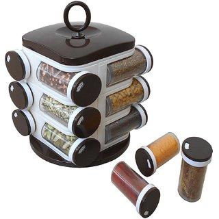 Jony Rotating Spice Rack (masala rack) Brown 12pcs
