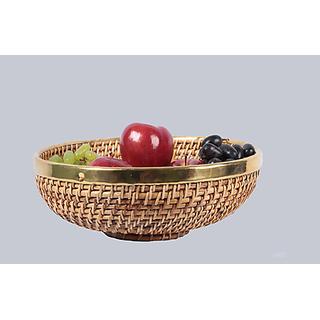 Cane Round Fruit Basket